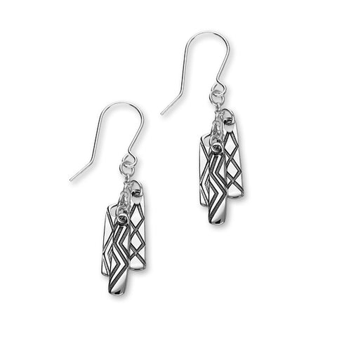 Live, Love, Laugh Silver Earrings E1901