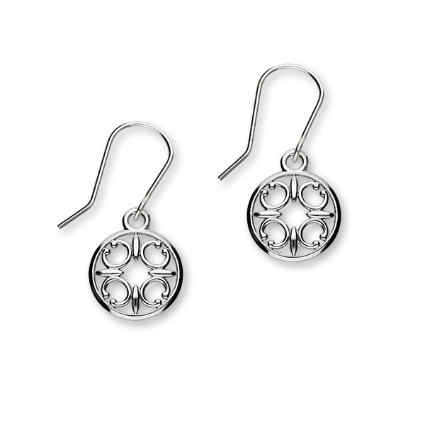 St Magnus Sterling Silver Cut-Out C Drop Earrings, E1911
