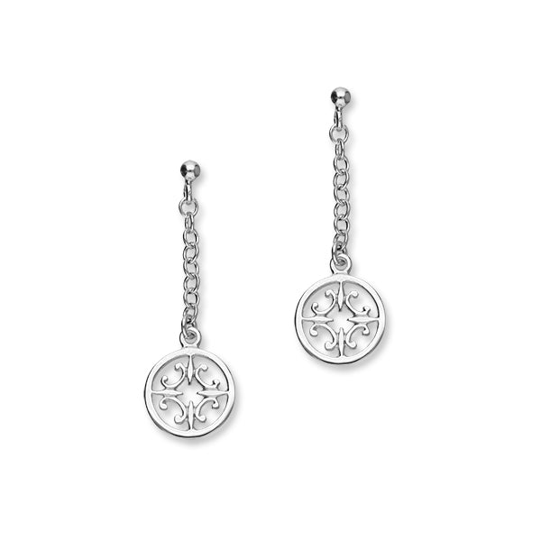 Orkney Traditional Silver Earrings E29