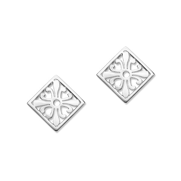 Orkney Traditional Silver Earrings E305