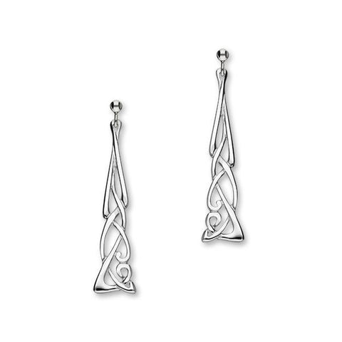 Archibald Knox Silver Earrings E329