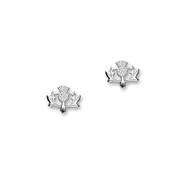 Thistle Silver Earrings E58