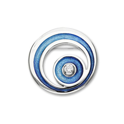 Orbit   Silver Brooch ECB2