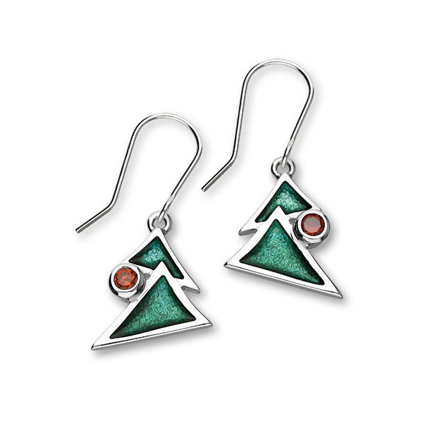 Festive Silver Earrings ECE26