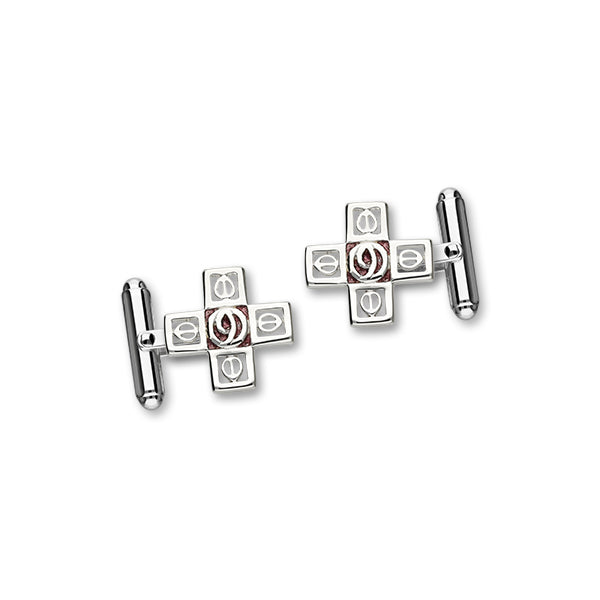 Charles Rennie Mackintosh Silver Cufflinks ECL108