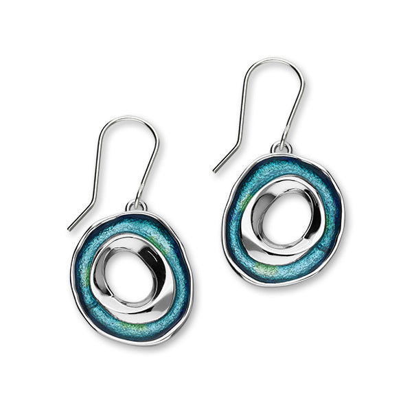 Maeshowe Enamel and Sterling Silver Single Drop Earrings HIS EE562