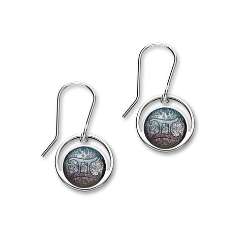 Zodiac Silver Earrings EE565 Gemini