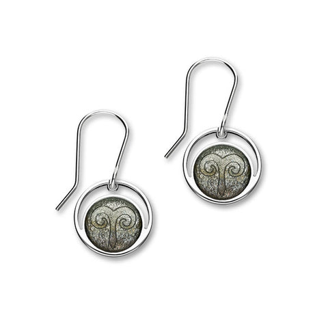Zodiac Silver Earrings EE571 Aries