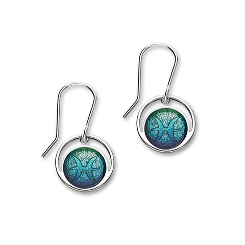 Zodiac Silver Earrings EE576 Pisces