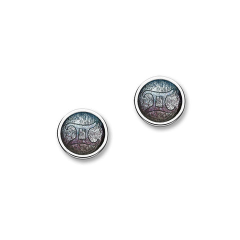 Zodiac Silver Earrings EE577 Gemini