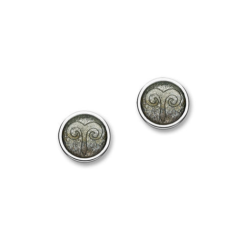 Zodiac Silver Earrings EE583 Aries