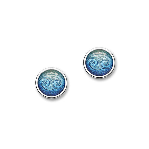Zodiac Silver Earrings EE586 Cancer
