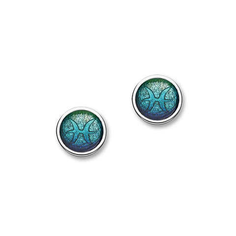 Zodiac Silver Earrings EE588 Pisces
