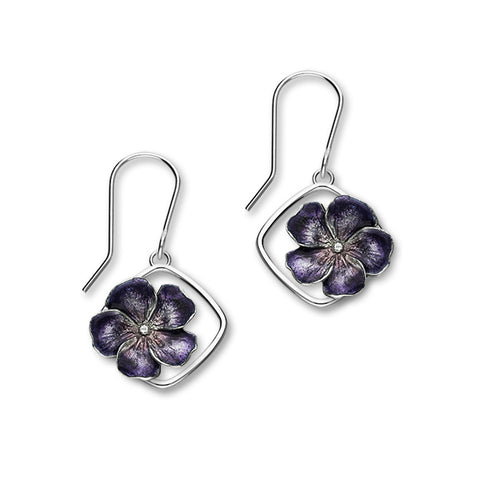 Birth Flowers Silver Earrings EE591