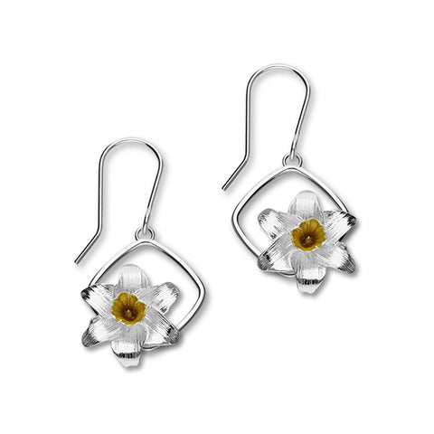 Birth Flowers Silver Earrings EE592