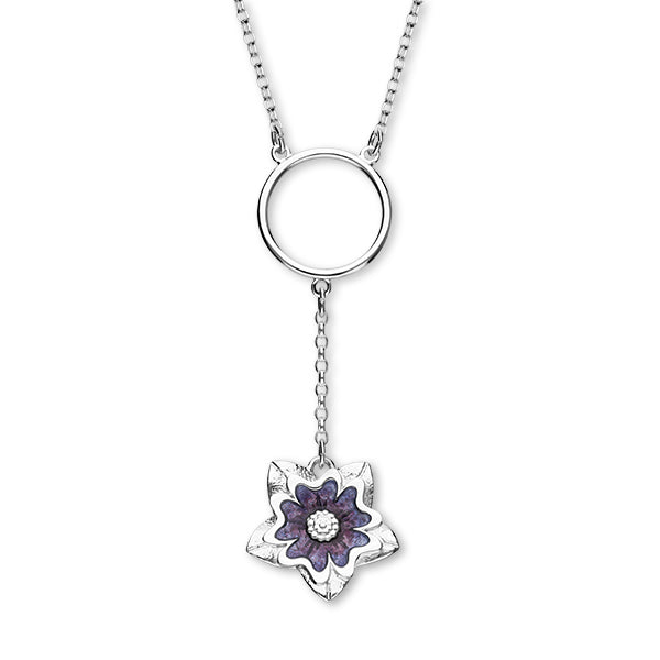 Scottish Primrose Silver Necklet EN116