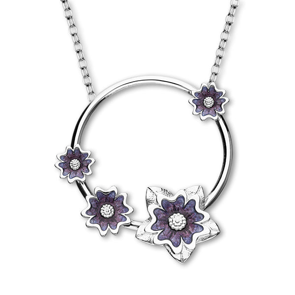 Scottish Primrose Silver Necklet EN117