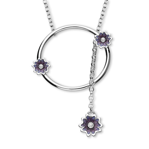 Scottish Primrose Silver Necklet EN118