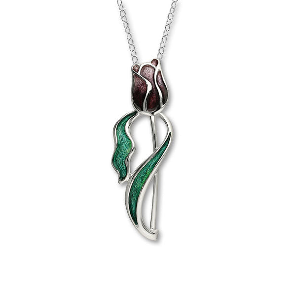 Tulips Supporting MS - Silver Pendant EP423