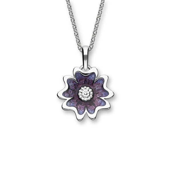 Scottish Primrose Silver Necklet EP481