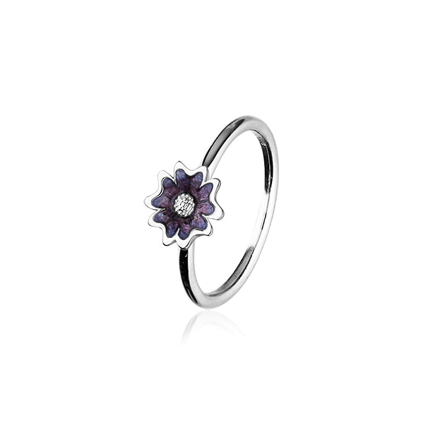 Scottish Primrose Silver Ring ER143