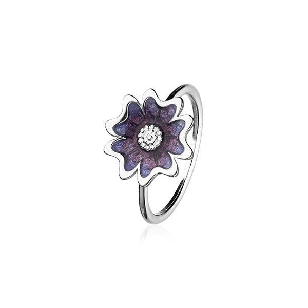 Scottish Primrose Silver Ring ER144