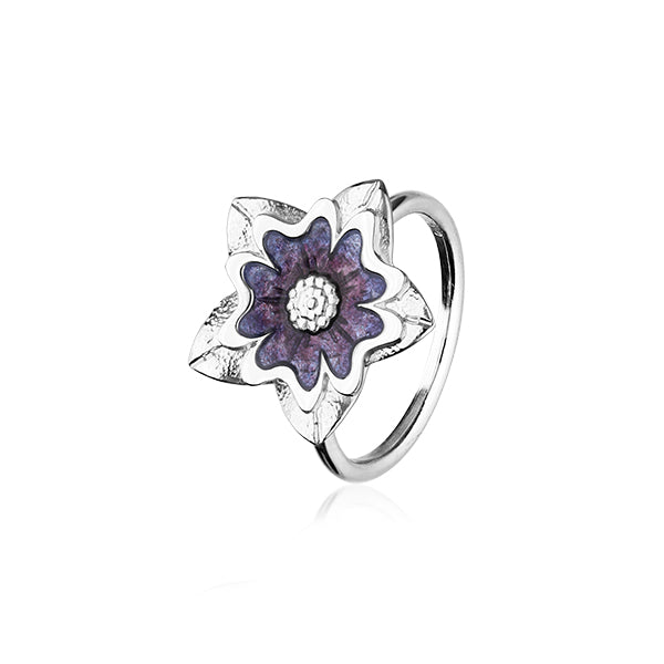 Scottish Primrose Silver Ring ER145
