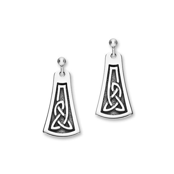 Celtic Silver Earrings E1789
