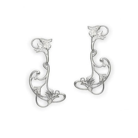 Art Nouveau Silver Earrings E240