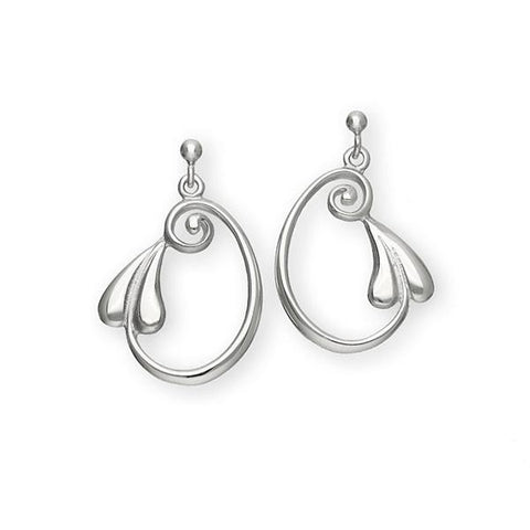 Art Nouveau Silver Earrings E257
