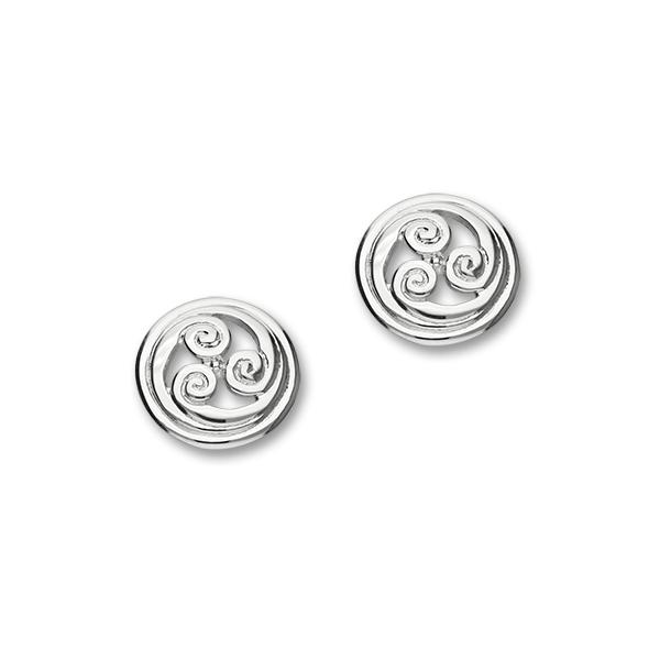 Celtic Book of Kells Sterling Silver Stud Earrings, E510