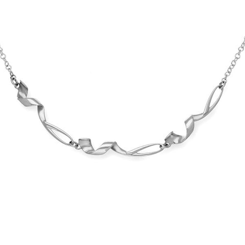 Twist & Shout Silver Necklet N386