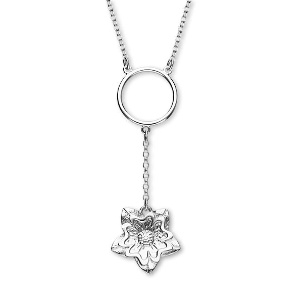 Scottish Primrose Silver Necklet N398