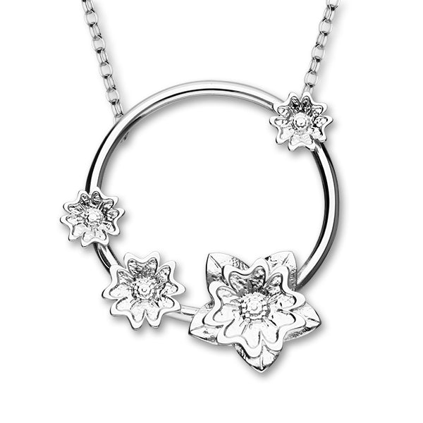 Scottish Primrose Silver Necklet N399
