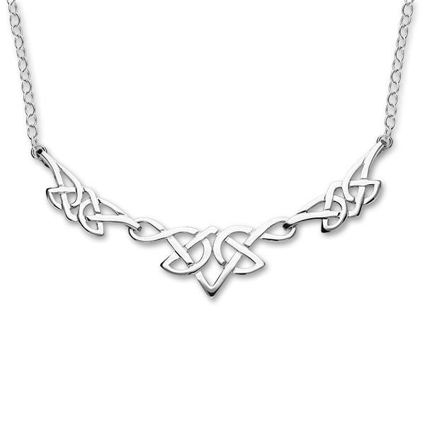 Celtic Silver Necklet N79