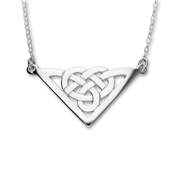 Celtic Silver Necklet N89