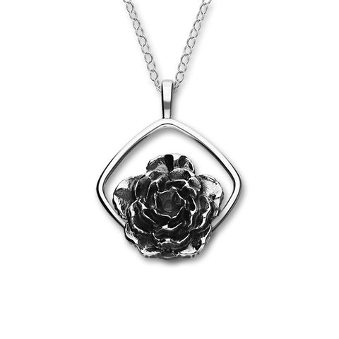 January Birth Flower Silver Pendant P1155