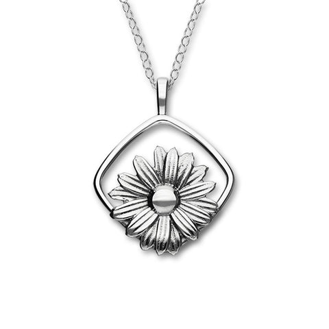 April Birth Flower Silver Pendant P1158