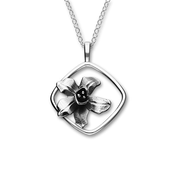July Birth Flower Silver Pendant P1161