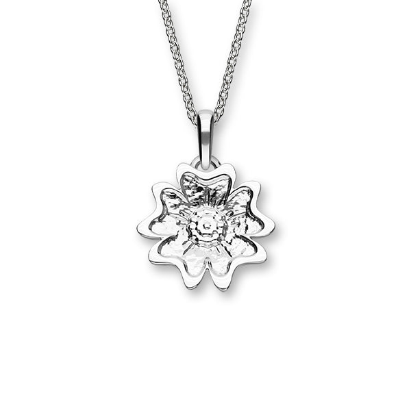 Scottish Primrose Silver Pendant P1284