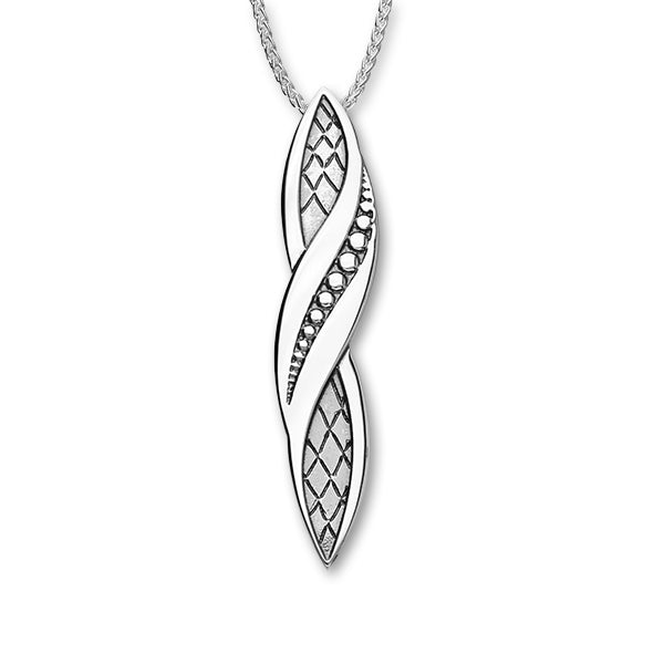 Sterling Silver Elongated Pendant Ran Collection P1288