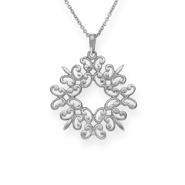 Simply Stylish Silver Pendant P144