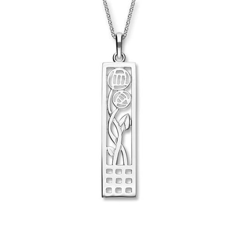 Charles Rennie Mackintosh Silver Pendant P214
