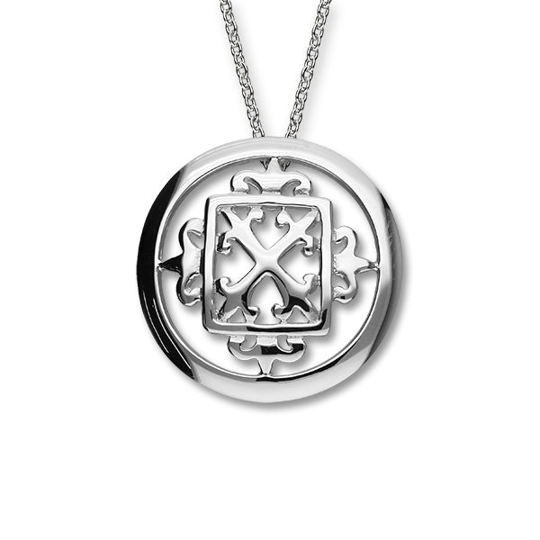 Orkney Traditional Silver Pendant P305