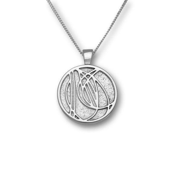 Charles Rennie Mackintosh Silver Pendant P592