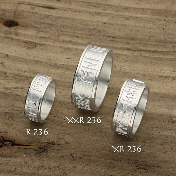 Runic Silver Ring XR236