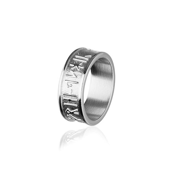 Runic Silver Ring R236