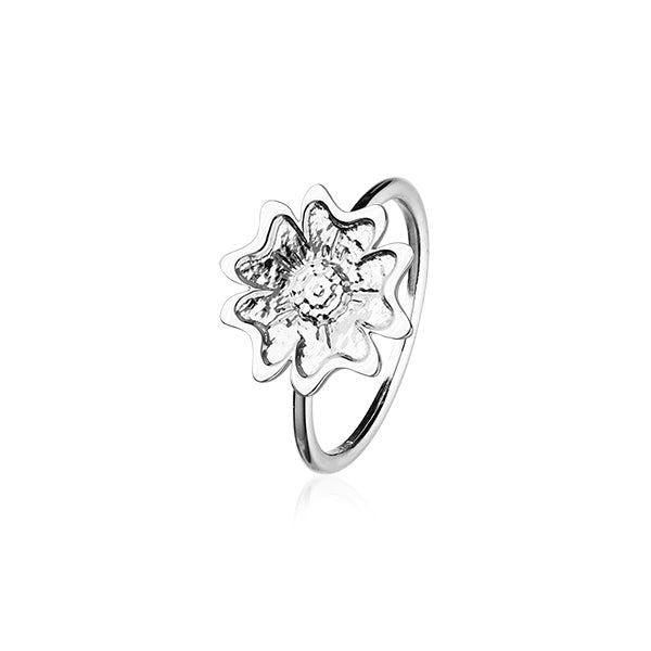 Scottish Primrose Silver Ring R411