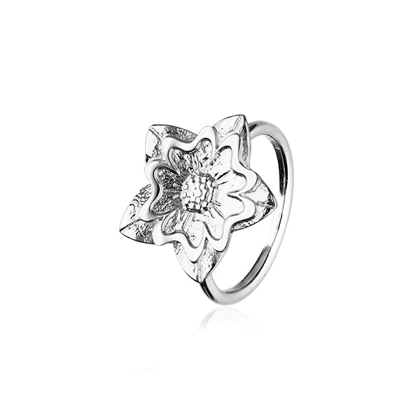 Scottish Primrose Silver Ring R412