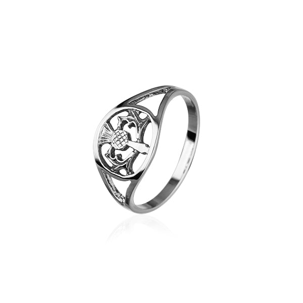 Thistle Silver Ring R75